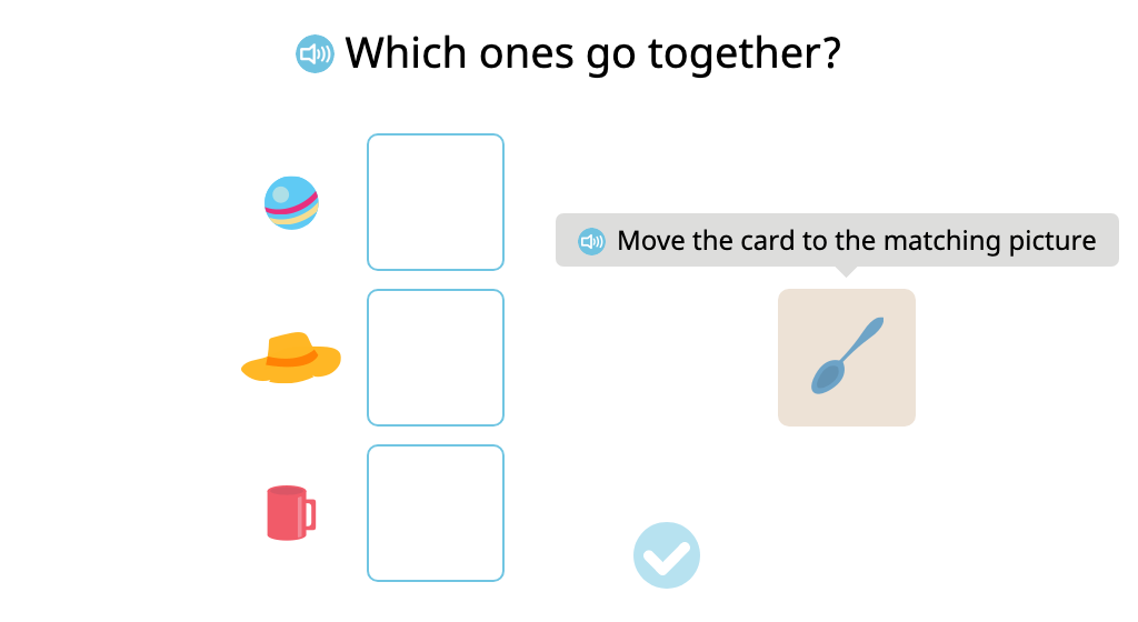 Match pairs of different items that are used together
