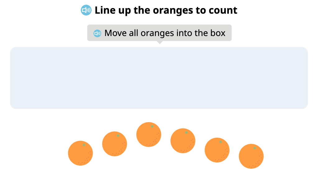 Align groups of identical objects and identify the total