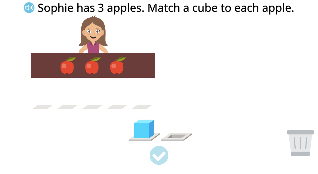 Determine the number of objects represented by cubes in an addition scenario (Level 2)