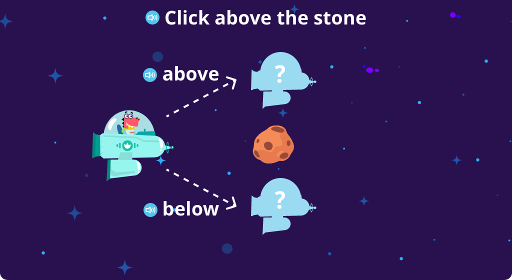 Identify the position above or below a given object (Part 1)