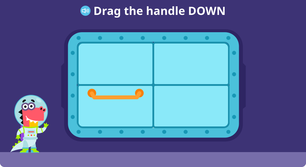 Move objects up or down as instructed