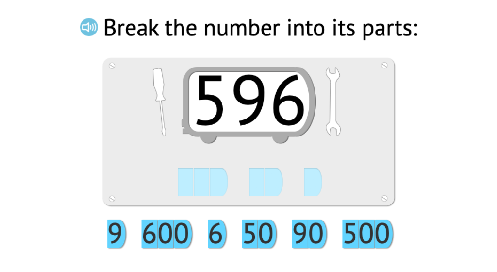 Decompose 3-digit numbers into hundreds, tens, and ones