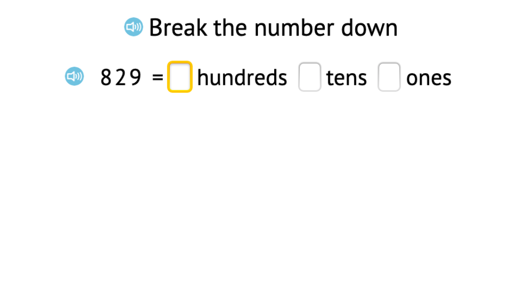 Compose 3-digit numbers based on a given number of hundreds, tens, and ones