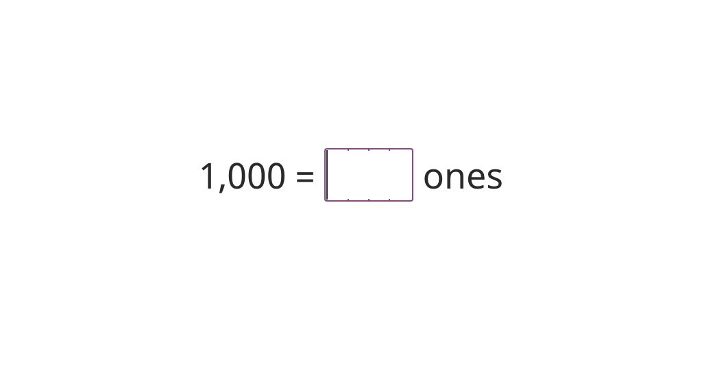 Convert among ones, tens, hundreds, and thousands using number and unit notation