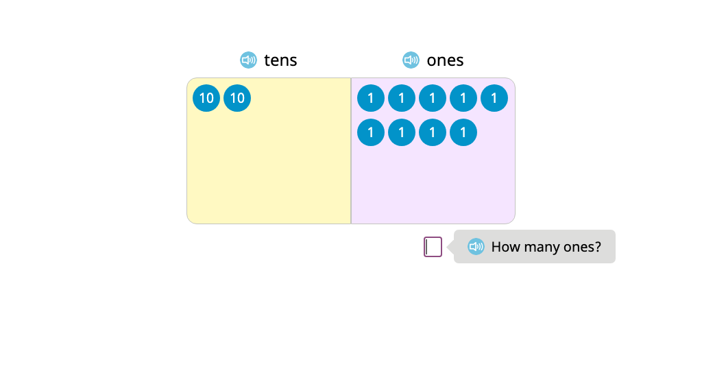 Exchange into the tens using a disk model