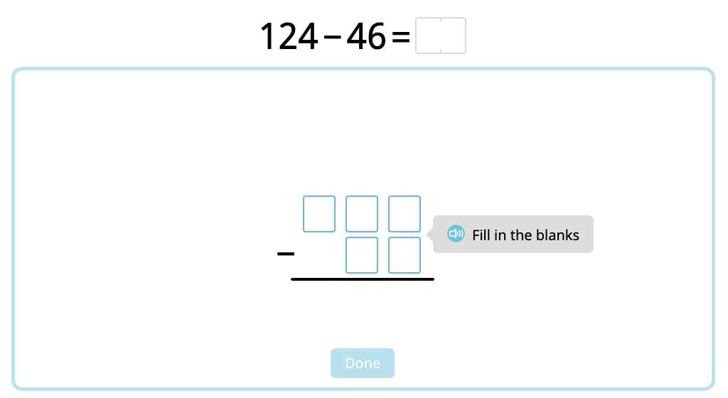 Solve 2- and 3-digit column subtraction with multiple exchanges (Part 1)