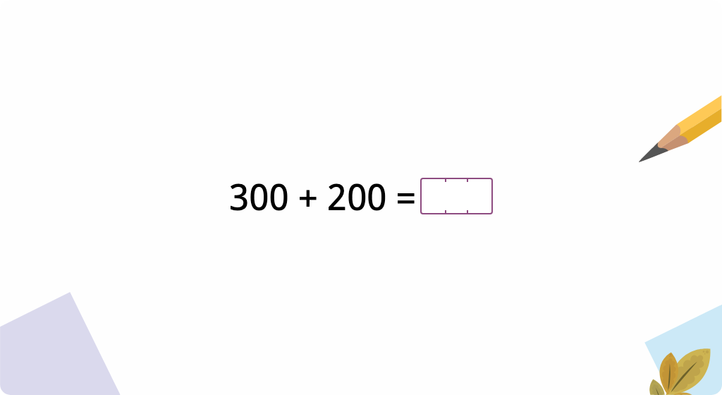 Add and subtract 3-digit numbers with no tens or ones