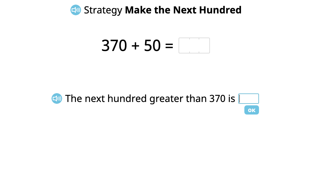 """Add a 2-digit number to a 3-digit number using the """"Make the Next Hundred"""" strategy (Part 1)"""