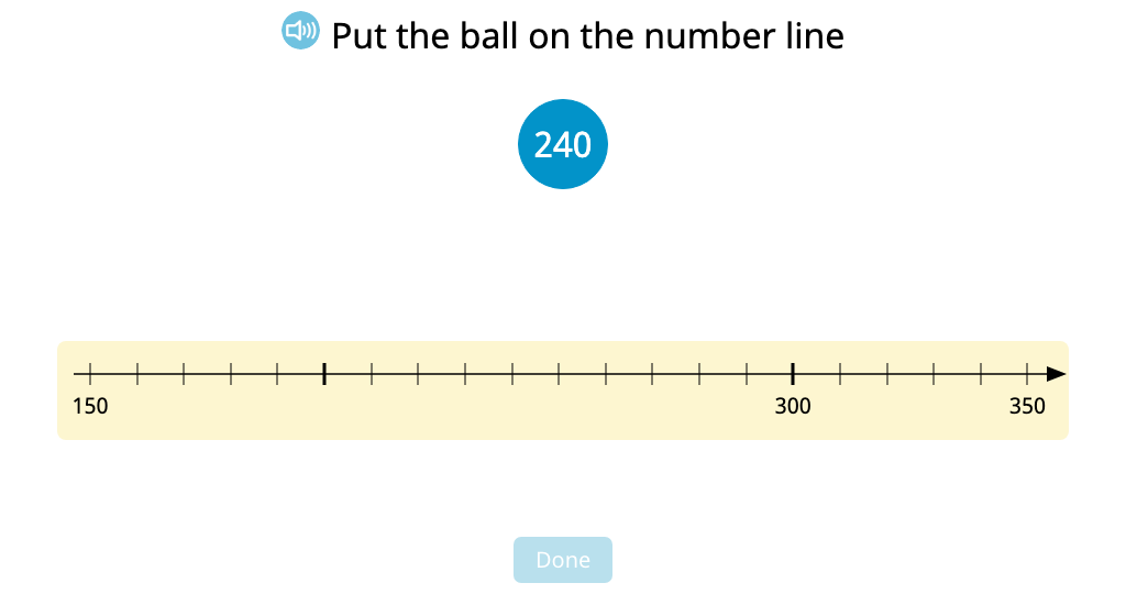 Subtract to the next hundred with and without using a number line model
