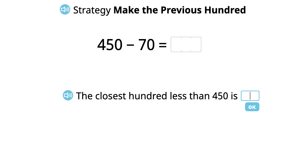"""Subtract a 2-digit number from a 3-digit number using the """"Make the Previous Hundred"""" strategy (Part 1)"""