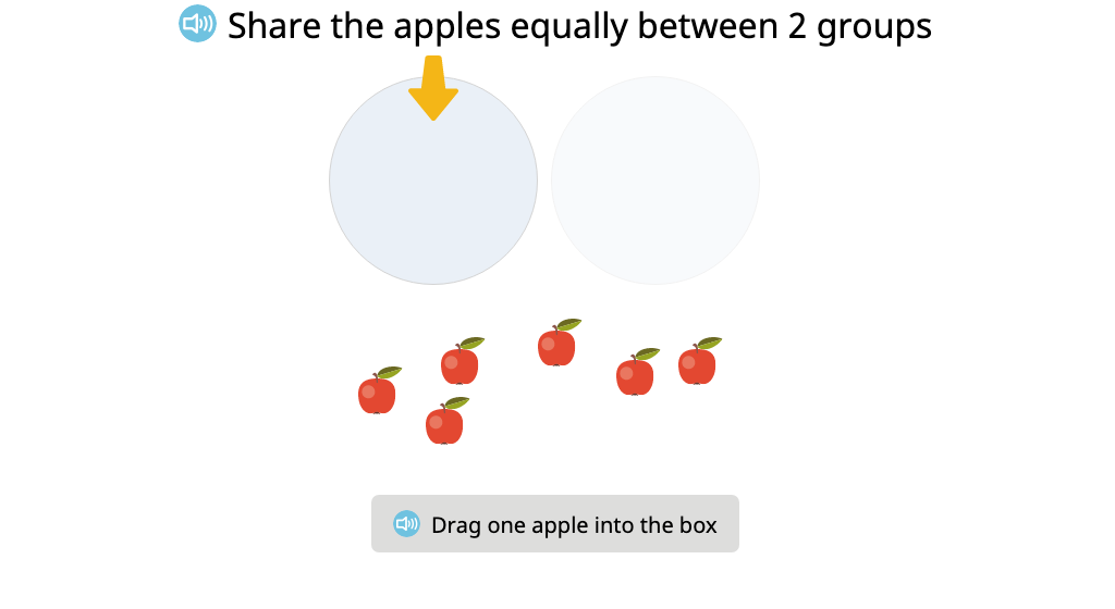 Create equal groups by dealing objects one by one into a given number of groups