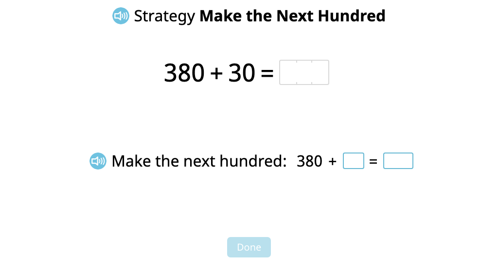 """Add a 2-digit number to a 3-digit number using the """"Make the Next Hundred"""" strategy (Part 2)"""