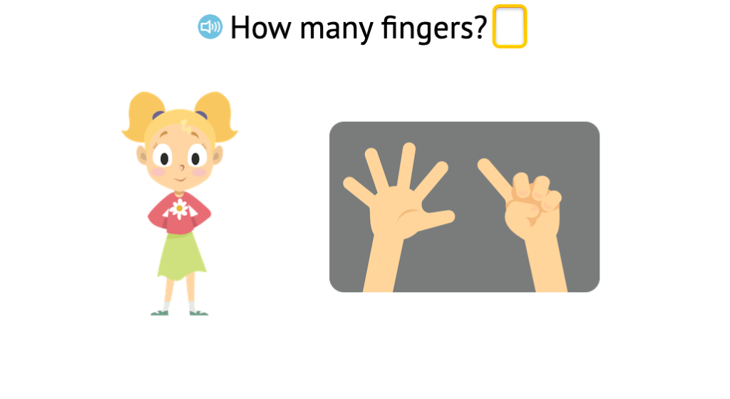 Identify the number of fingers up to 7 displayed on two hands