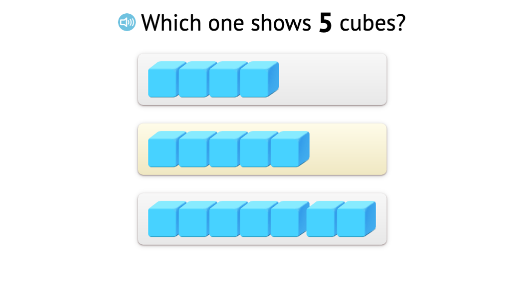 Identify a set of aligned objects that matches a given total up to 7