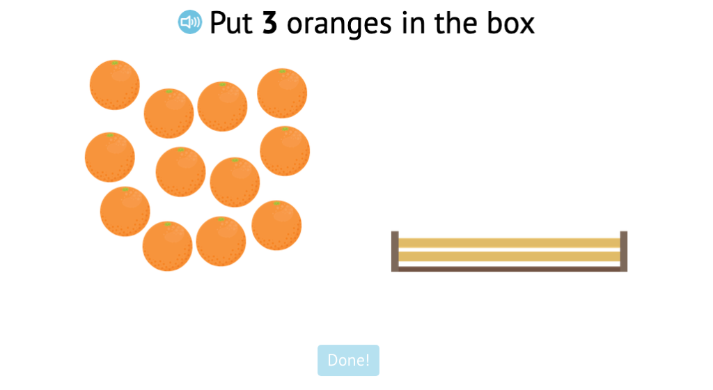 Count out a given number of objects from a larger set