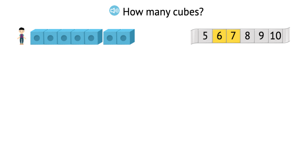 Identify sets of numbered cubes that match a given total 0-10