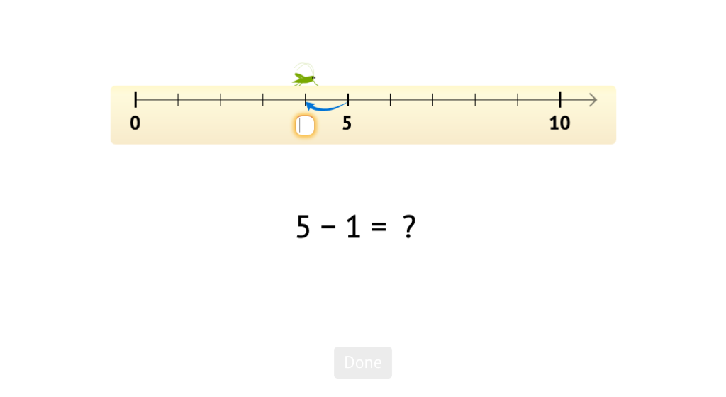 Solve -1 equations based on a number line model