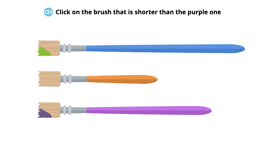 Compare objects based on longer/shorter