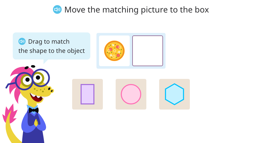 Match real world objects to their 2D shapes