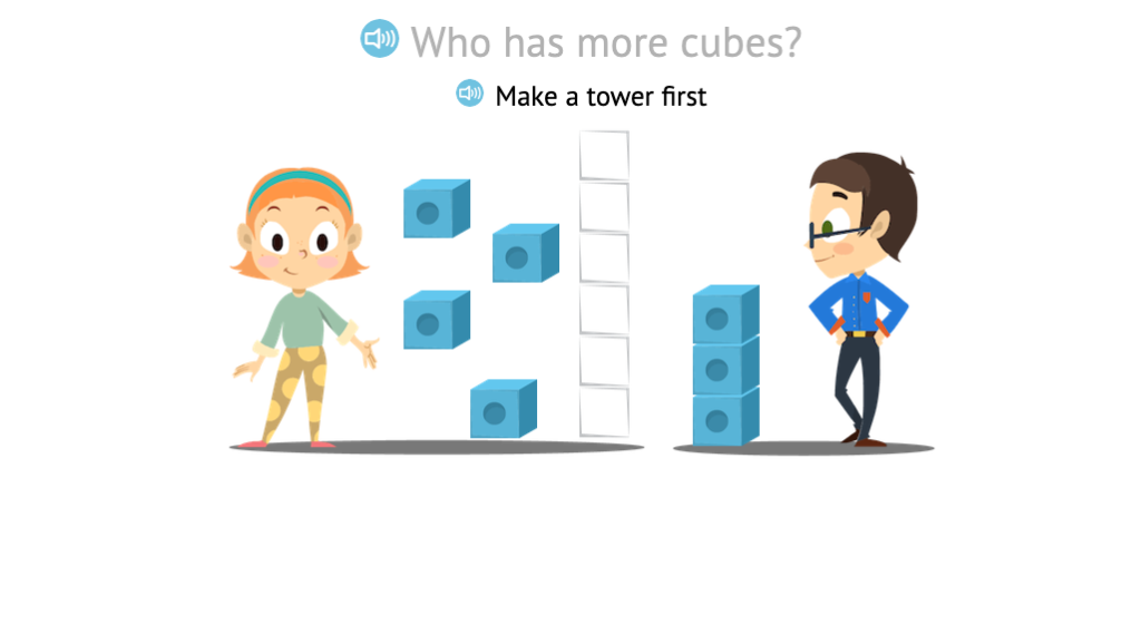 Identify more when comparing two sets of cubes with or without aligning them first