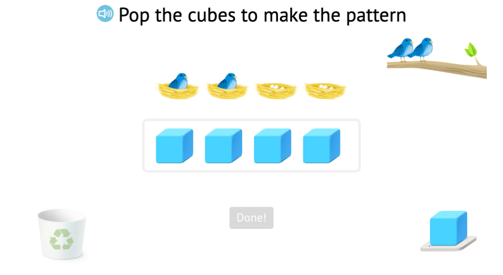 Use base-10 blocks to represent subtraction scenarios with objects within 5 and record as an equation