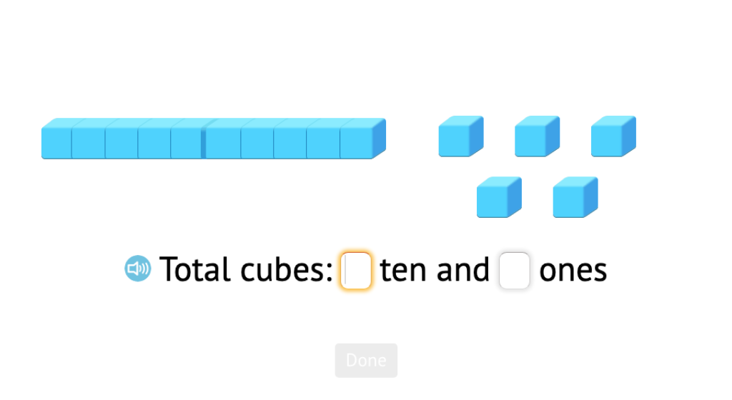 Determine a 2-digit total based on totals of tens and ones using objects or base-10 blocks