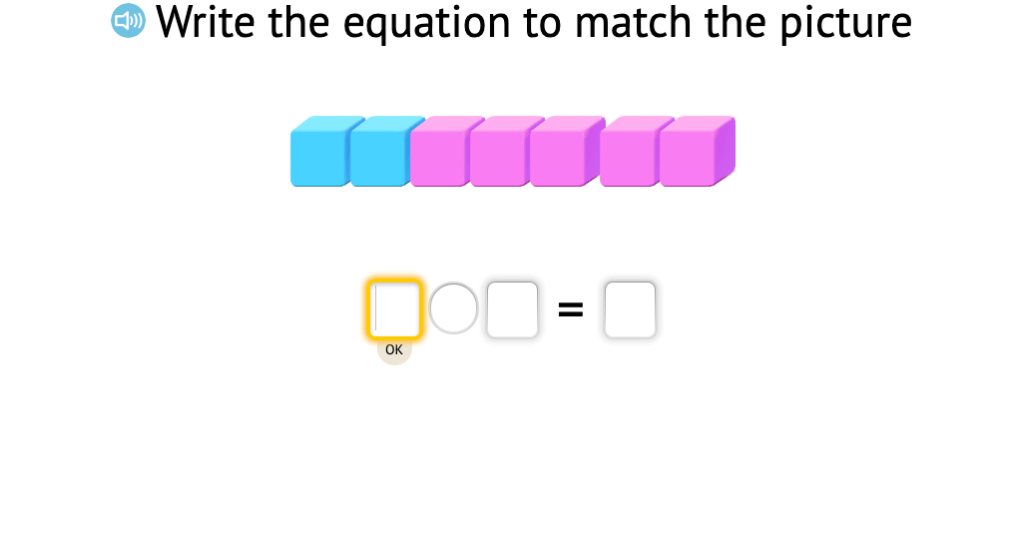 Record a model of base-10 blocks as an addition equation