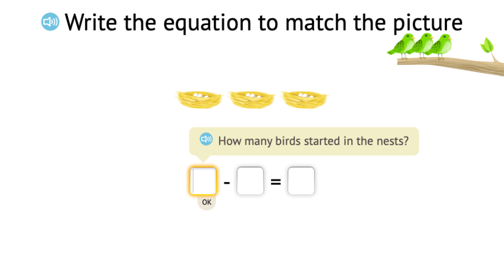 Record a scenario based on objects as a subtraction equation with a difference of 0 (Part 2)
