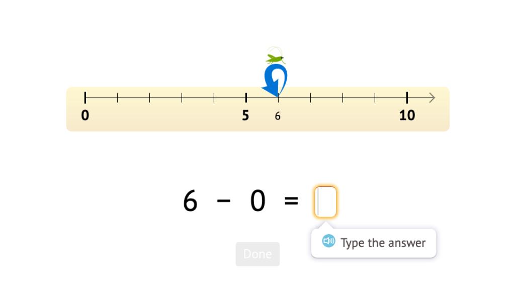 Record a number line scenario as a -0 subtraction equation