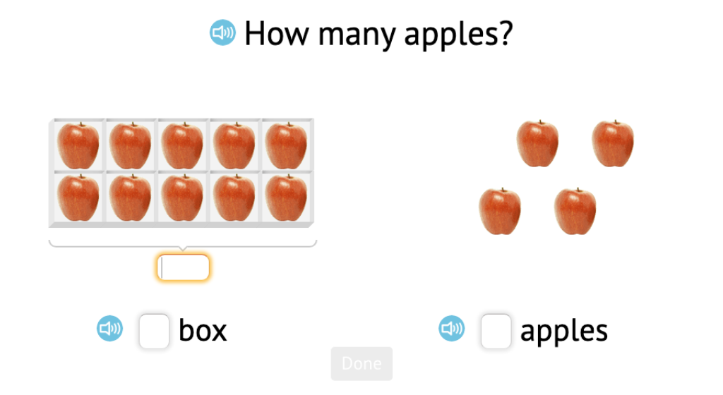 Determine the number of tens and ones using objects or base-10 blocks grouped into a ten-frame or a rod and then determine the total