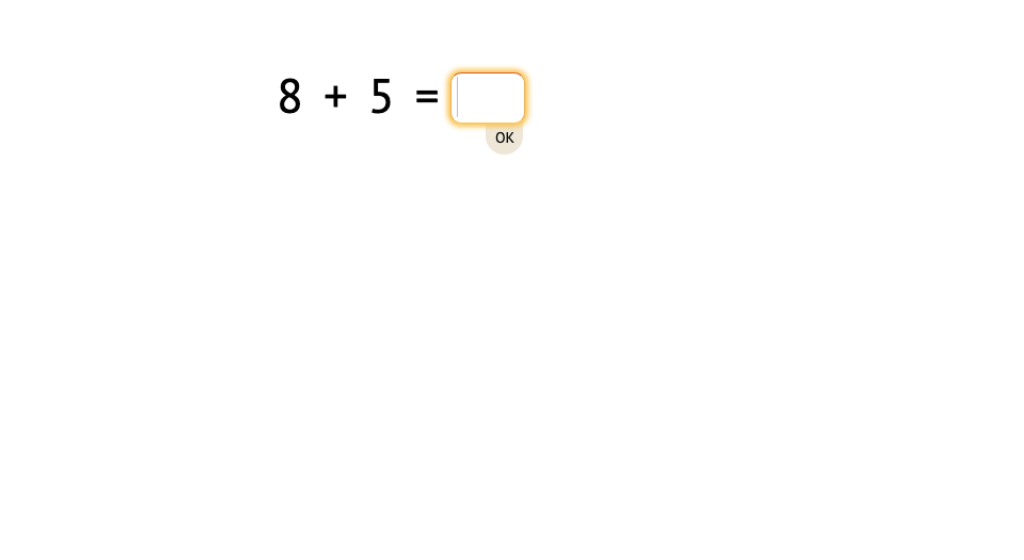Solve addition equations across 10 (Level 1)