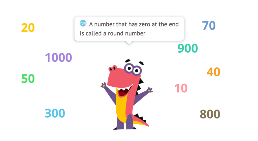 Identify 2-digit round numbers