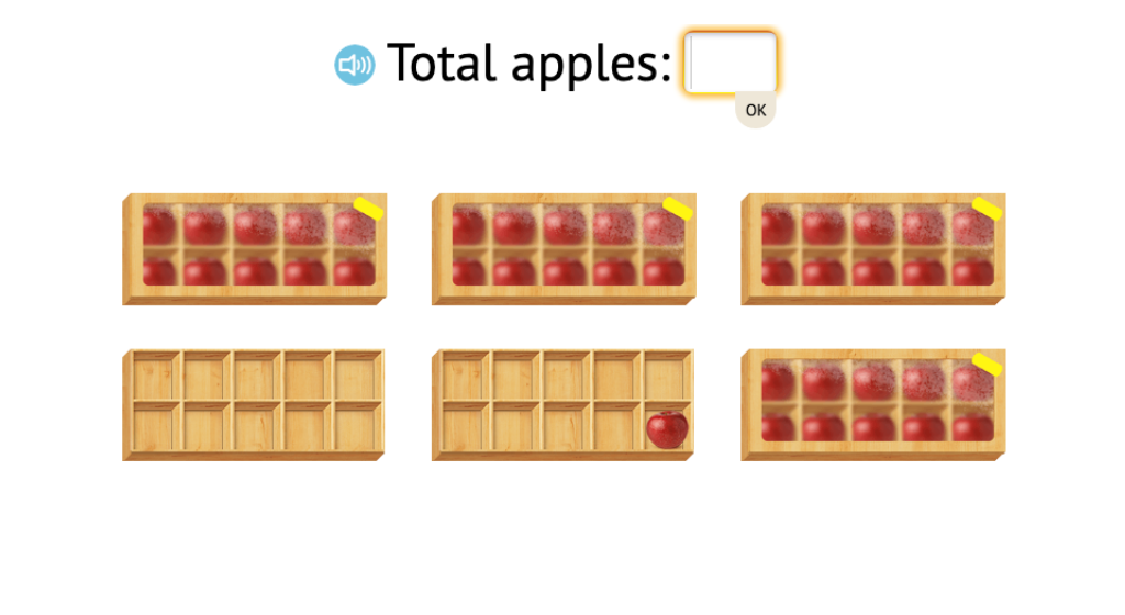 Determine totals by counting objects with or without filling ten-frames