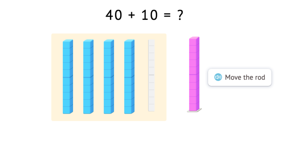 Solve equations by adding or subtracting 10 to or from a round number