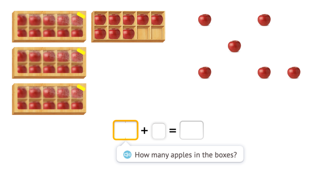 Add across 10 using a ten-frame (within 100)
