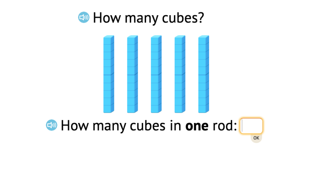 Determine totals to 90 by counting base-10 rods