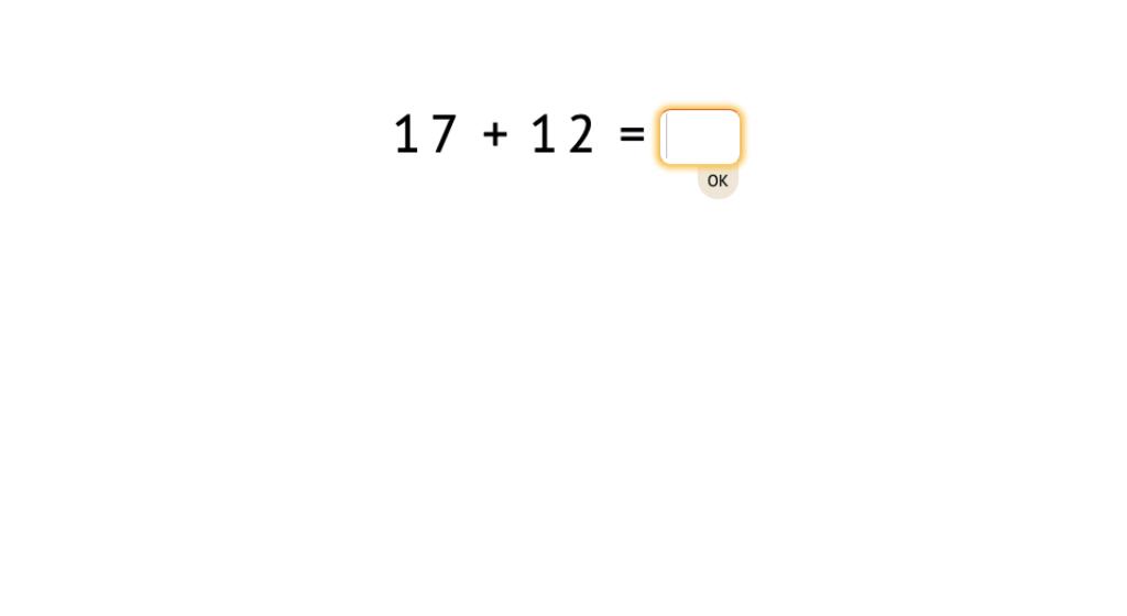 Solve 2-digit addition equations