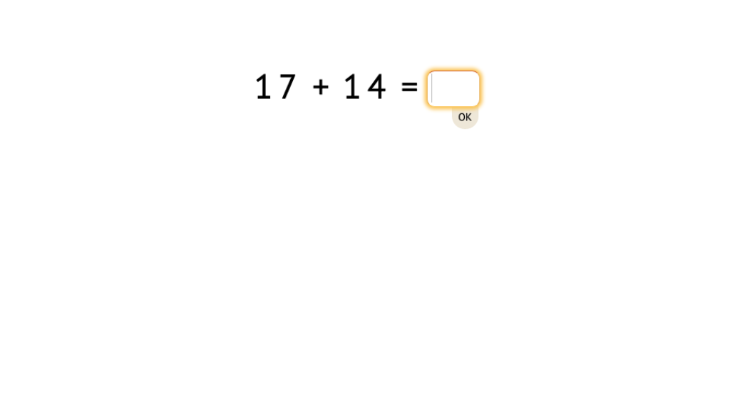 Solve equations that add two-digit numbers across a 10