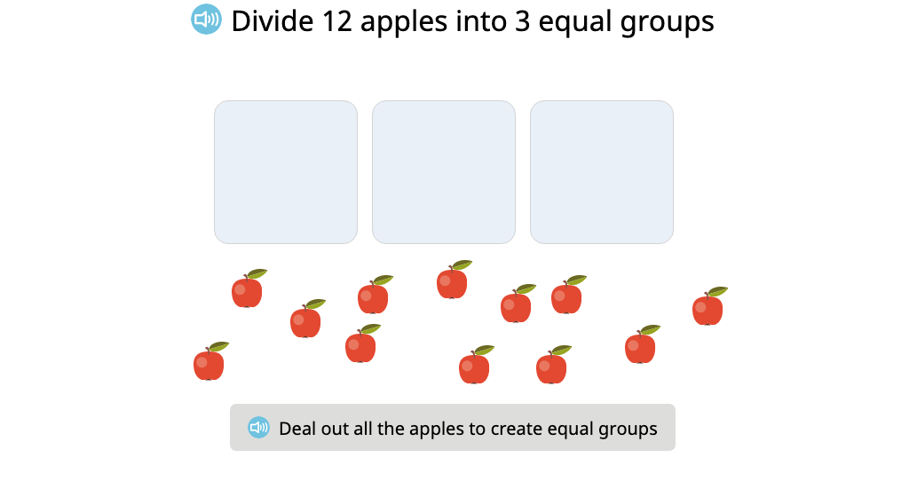 Compose and solve a division equation based on a model (Part 1)