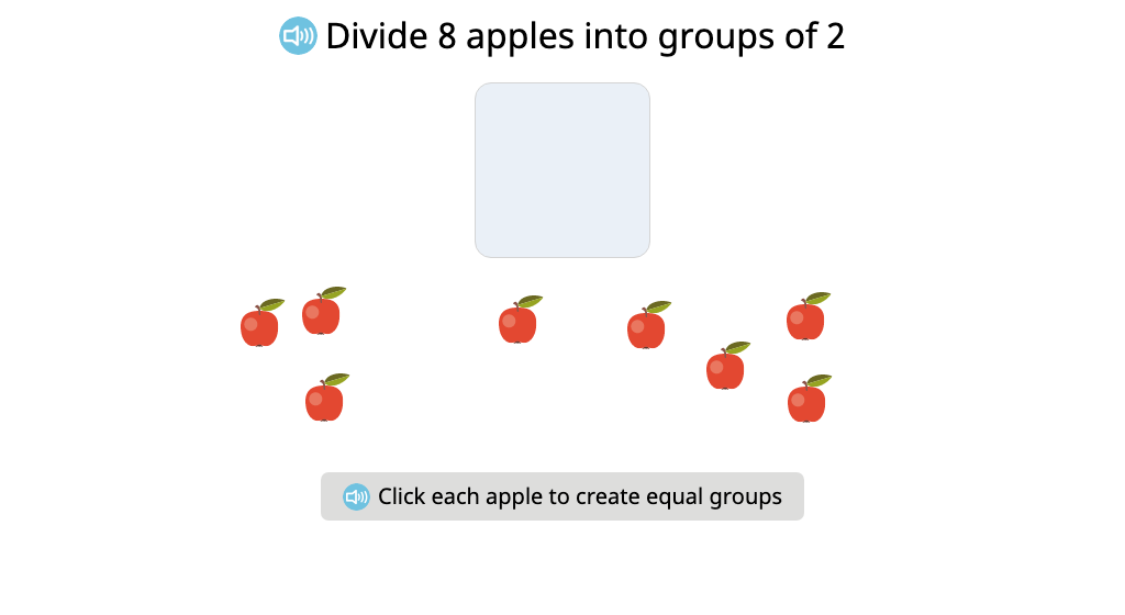 Divide a set of objects into equal groups of a given size and identify the number of groups