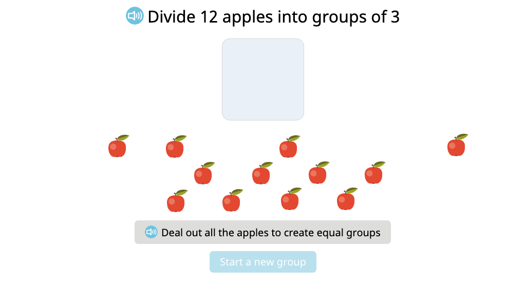 Compose and solve a division equation based on a model (Part 2)