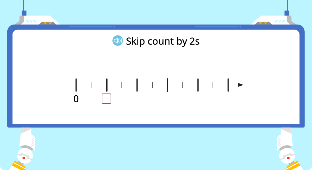 Skip count by 2 (Level 1)
