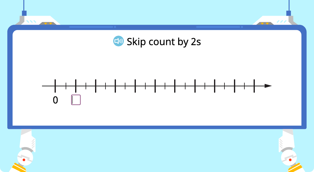 Skip count by 2 (Level 2)