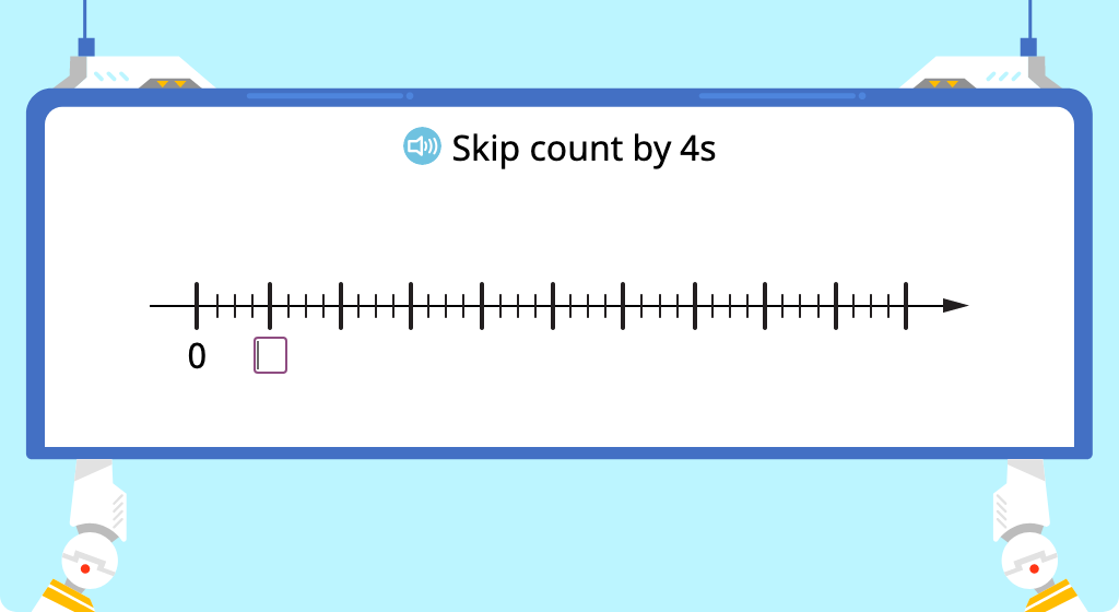 Skip count by 4