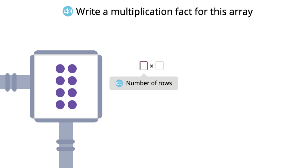 Label arrays with equations to show the commutative property of multiplication (Level 1)