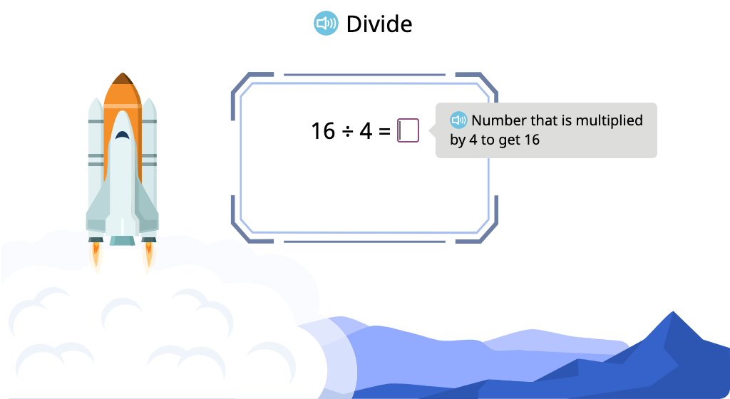 Solve division equations by using the related multiplication fact