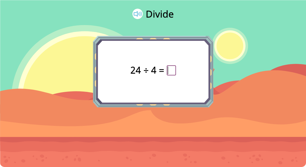 Solve division equations with a divisor of 4 (Level 1)