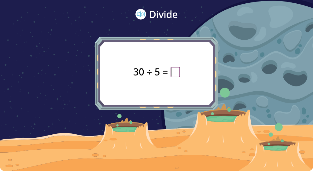 Solve division equations with a divisor of 5 (Level 2)