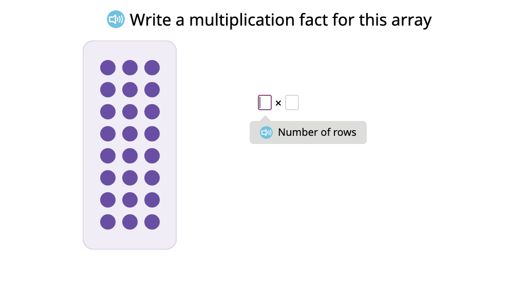 Illustrate the commutative property by labeling arrays and tape diagrams