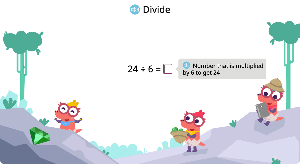 Solve division problems with a divisor of 6 based on its relationship to multiplication